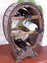DanDiBo Weinregal Weinfass für 6 Flaschen Braun
