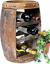DanDiBo Weinregal Weinfass Holz Flaschenständer