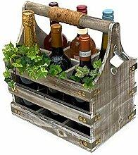 DanDiBo Weinträger 6 Flaschen Holz 93860