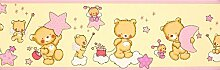 Dandino Bordüre Kinder Bären und Sterne, gelb