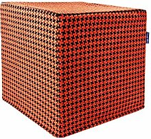 Dandy Home Sitzwürfel Houndstooth Orange, 45 x 45 x 45 cm