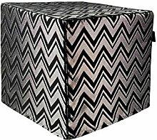Dandy Home Sitzwürfel Jazz Silver , 45 x 45 x 45 cm