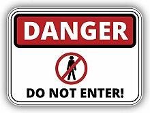 Danger Do Not Enter Emblem - Self-Adhesive Sticker