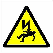 Danger of Electric Shock Aufkleber 1007 für innen