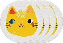 Danica Studio 7002050aa Coaster Ceramic 4 Meow