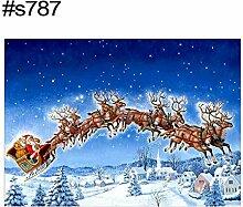 Danigrefinb Stickerei, 40 x 30 cm, Weihnachtsmann