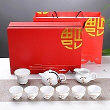 DANJIA 10 hohe weiße Porzellan-Tee-Sets, kreative