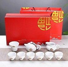 DANJIA 10 weiße Porzellan-Tee-Sets, kreative