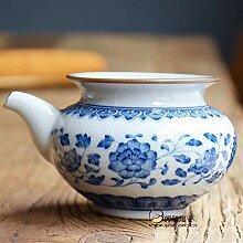 DANJIA Blaue und weiße Porzellan-Keramiktasse mit