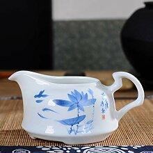 DANJIA Hohe weiße Porzellan-Teetasse,