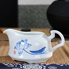 DANJIA Hohe weiße Porzellan-Teetasse mit