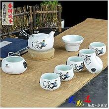 DANJIA Kung Fu Tee-Set 10 Schneeglasur (Farbe:
