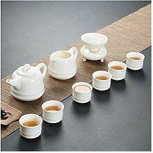 DANJIA Set hohe weiße Porzellan-Kung-Fu-Teetasse