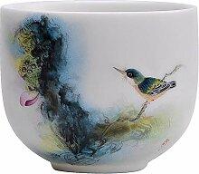 DANJIA Teetasse aus Porzellan, handbemalt, Weiß 1