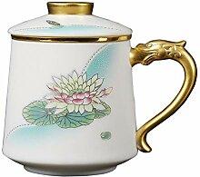 Danjia Teetasse aus weißem Jade-Porzellan mit
