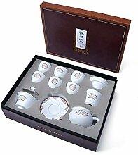 DANJIA Teetasse aus weißem Porzellan, Kung Fu