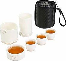 Danjia tragbares Reise-Tee-Set aus Keramik, mit