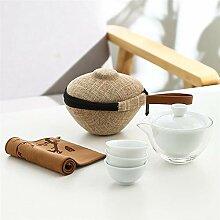 DANJIA Tureen Keramik-Tee-Set, Reise-Tee-Set,