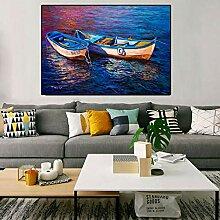 Danjiao Abstrakte Malerei Ladscape Bild Mit Boot