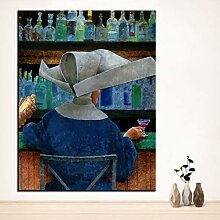 Danjiao Druck Ölgemälde Bar Keine Wandmalerei