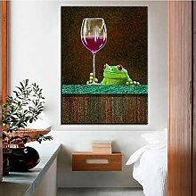 Danjiao Druck Ölgemälde Rotweinbar Wandmalerei