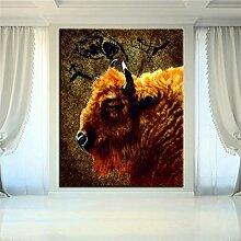 Danjiao Drucken Ölgemälde Stonebull Wandmalerei