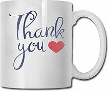 Danke, Kaffeetasse-Porzellan-Becher umzuarbeiten