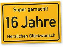 DankeDir! 16 Jahre Stadtschild/Kunststoff Schild -