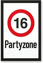 DankeDir! 16 Partyzone - Kunststoff Schild,
