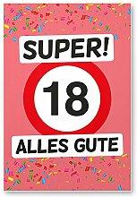 DankeDir! 18 Alles Gute - Kunststoff Schild