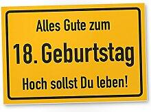 DankeDir! 18. Geburtstag Stadtschild - Kunststoff