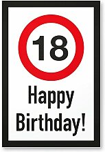 DankeDir! 18 Jahre Happy Birthday Kunststoff