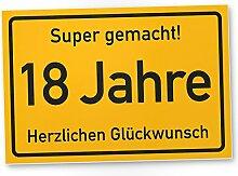 DankeDir! 18 Jahre Stadtschild/Kunststoff Schild -