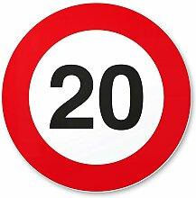 DankeDir! 20 Geburtstag Verkehrsschild -