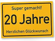 DankeDir! 20 Jahre Stadtschild/Kunststoff Schild -
