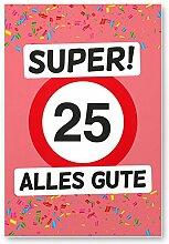 DankeDir! 25 Alles Gute - Kunststoff Schild