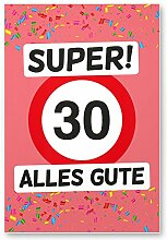 DankeDir! 30 Alles Gute - Kunststoff Schild