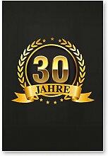 DankeDir! 30 Jahre Gold, Kunststoff Schild -