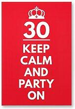 DankeDir! 30 Jahre Keep Calm Party on, Kunststoff