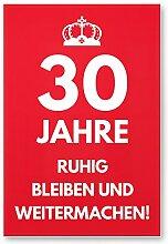 DankeDir! 30 Jahre, Ruhig Bleiben - Geschenk 30.