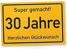 DankeDir! 30 Jahre Stadtschild/Kunststoff Schild -