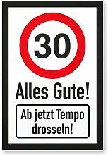 DankeDir! 30 Tempo Drosseln, Kunststoff Schild -