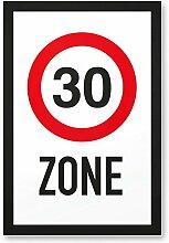 DankeDir! 30 Zone - Kunststoff Schild, Geschenk