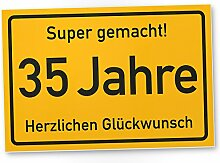 DankeDir! 35 Jahre Stadtschild/Kunststoff Schild -