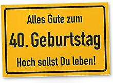 DankeDir! 40. Geburtstag Stadtschild - Kunststoff