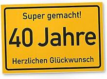 DankeDir! 40 Jahre Stadtschild/Kunststoff Schild -