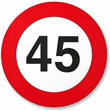 DankeDir! 45. Geburtstag Kunststoff Schild (20 x