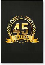 DankeDir! 45 Jahre Gold, Kunststoff Schild -