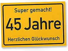 DankeDir! 45 Jahre Stadtschild/Kunststoff Schild -