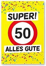 DankeDir! 50 Alles Gute - Kunststoff Schild